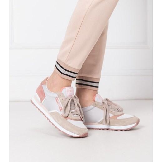 Buty sportowe damskie Trussardi Jeans do siatkówki płaskie wiosenne