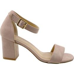 494f5783 Vinceza sandały damskie na średnim obcasie różowe eleganckie z klamrą na  lato gładkie