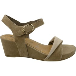 e6e45932 Tamaris sandały damskie brązowe eleganckie na koturnie