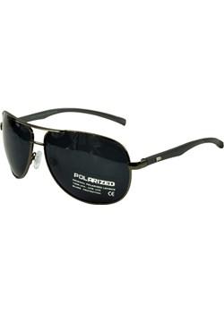 Okulary przeciwsłoneczne polaryzacyjne PILOTKI AVIATOR - Grafitowy połysk \ czarny  Jk Collection JK-Collection - kod rabatowy
