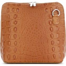 66b411e1c2268 Listonoszka Genuine Leather przez ramię skórzana