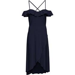 1f1f21d945 Sukienka czarna Bonprix na studniówkę elegancka bez wzorów z krótkimi  rękawami