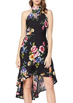 Mela damska kolorowa sukienka High Low Dress -  A-linie   Amazon okazyjna cena  - kod rabatowy