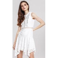 99e18c4633 Sukienka Renee mini biała bez rękawów
