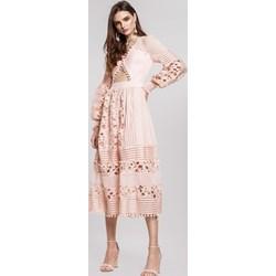 d84877c95d Sukienka Renee z długim rękawem midi