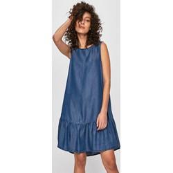 3d07305ca4 Sukienka Answear z okrągłym dekoltem na spacer jeansowa bez rękawów