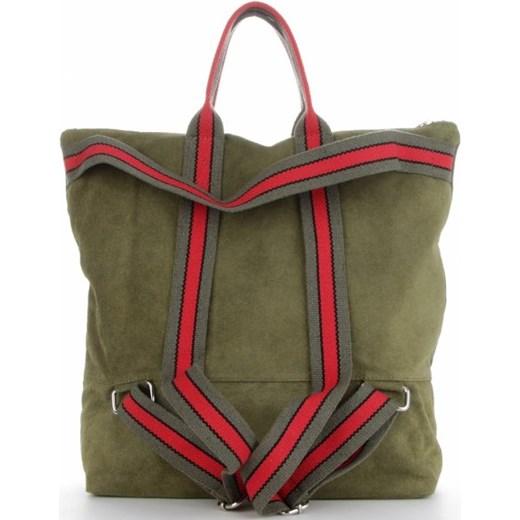 10abff13036c41 ... Shopper bag Vittoria Gotti duża wakacyjna zielona bez dodatków ...
