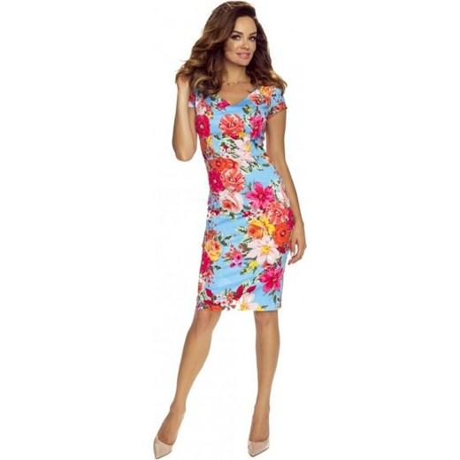 b49273b446 Sukienka wielokolorowa ołówkowa w Domodi
