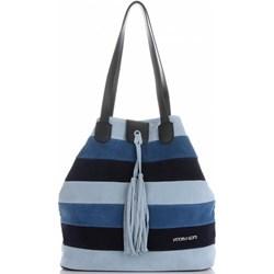 596d770a5b2b6 Vittoria Gotti shopper bag z zamszu wakacyjna mieszcząca a8