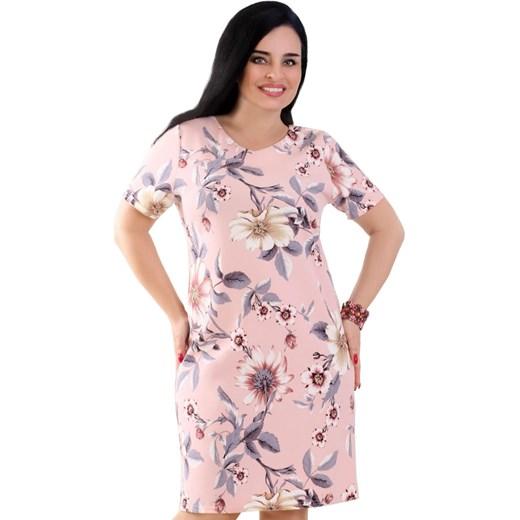 5912e66c6a Sukienka Lamar dla puszystych na spacer poliestrowa z okrągłym ...