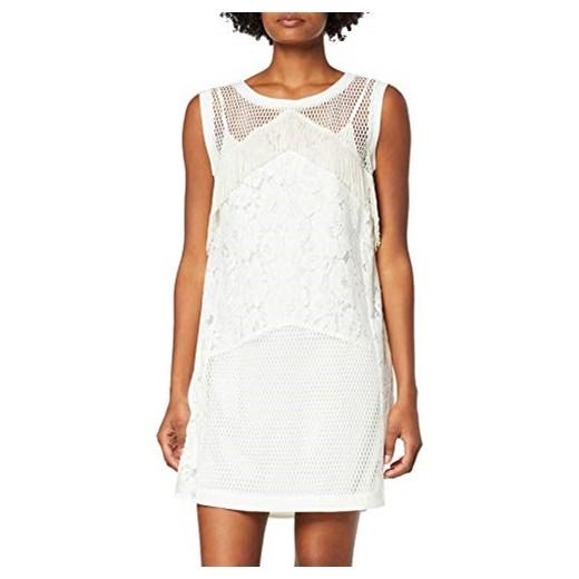 buy online 1a3cc afca6 Liu Jo dżinsy damski sukienka biała - naturalna biel Liu•jo Amazon