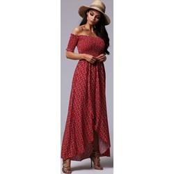 9bacff4eb1 Sukienka Fashionyou z dekoltem typu hiszpanka w kwiaty