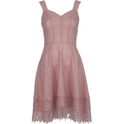 24c2360d1c Sukienka Vissavi bez rękawów różowa na wesele elegancka mini rozkloszowana  z poliamidu