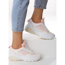 f60e16cd9139d Sneakersy damskie Born2be sznurowane na platformie na wiosnę bez wzorów
