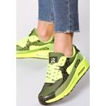 7339c2038101c1 Lime Green Buty Sportowe Candy born2be-pl granatowy płaska podeszwa