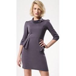 c1f924cadcaec Born2be sukienka mini dopasowana z długim rękawem elegancka
