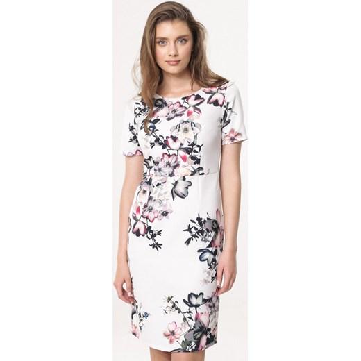 b3f34aed61 Sukienka Born2be na urodziny z krótkimi rękawami w kwiaty elegancka ...