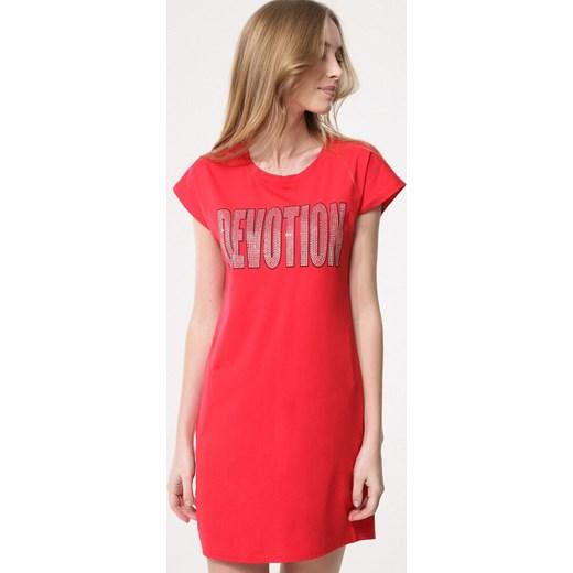 fc0eed4539 Sukienka Born2be z krótkim rękawem z okrągłym dekoltem gładka w Domodi