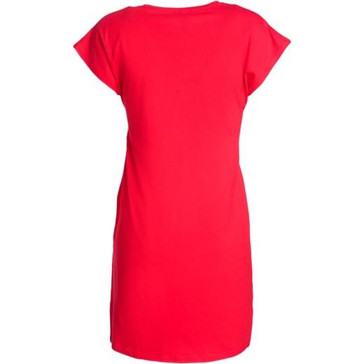 3ea719b416 ... dekoltem gładka  Sukienka Born2be z krótkim rękawem na co dzień prosta  z okrągłym dekoltem ...