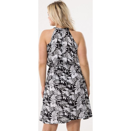 afea3876f1 ... casual mini  Sukienka Born2be w abstrakcyjne wzory ...