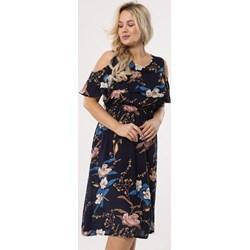 7ff5e2746e Sukienka Born2be z okrągłym dekoltem dla puszystych casual z krótkimi  rękawami na urodziny