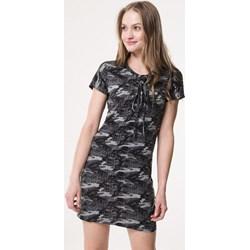 e76ce33a48 Sukienka Born2be z krótkim rękawem moro