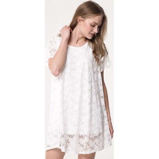 e25d65a857 Sukienka Born2be gładka mini z okrągłym dekoltem w Domodi