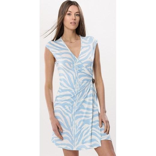 d61341b4dd Born2be sukienka niebieska bez rękawów na co dzień letnia mini w Domodi