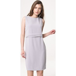 8442b4c53f Sukienka Born2be szara wiosenna prosta bez rękawów mini