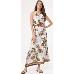 35c3302cd4 Sukienka Born2be w kwiaty wielokolorowa prosta
