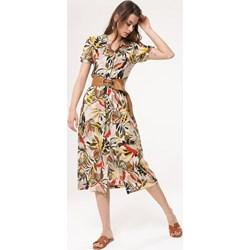 2d94f4a25f Sukienka Born2be z krótkim rękawem w kwiaty boho na spacer