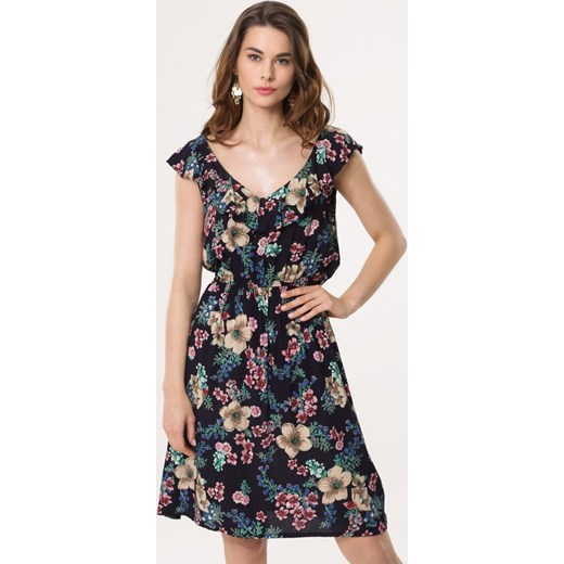 4863d2d85c Sukienka Born2be midi casual na spacer wiosenna w Domodi