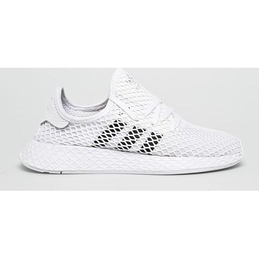 szukać kupić San Francisco Adidas Originals buty sportowe damskie skórzane białe sznurowane