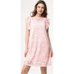 14e47c6b86 Sukienka Born2be różowa koronkowa na urodziny mini