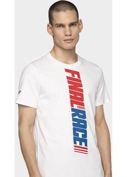 T-shirt męski TSM232 - biały   4F - kod rabatowy