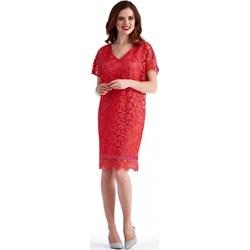 d5e80ec92b Sukienka Potis   Verso różowa z krótkim rękawem na wesele midi