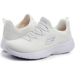 b1e68e2637b8e3 Buty sportowe damskie Skechers na fitness w stylu młodzieżowym gładkie  sznurowane na płaskiej podeszwie