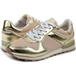 579a72844748e Sneakersy damskie Pepe Jeans na płaskiej podeszwie sznurowane skórzane