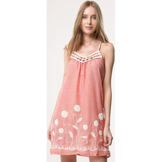 3148f5f8cd Sukienka Born2be z haftem mini różowa prosta w Domodi