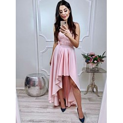 aab6a63d61 Sukienka Pakuten bez rękawów różowa z okrągłym dekoltem