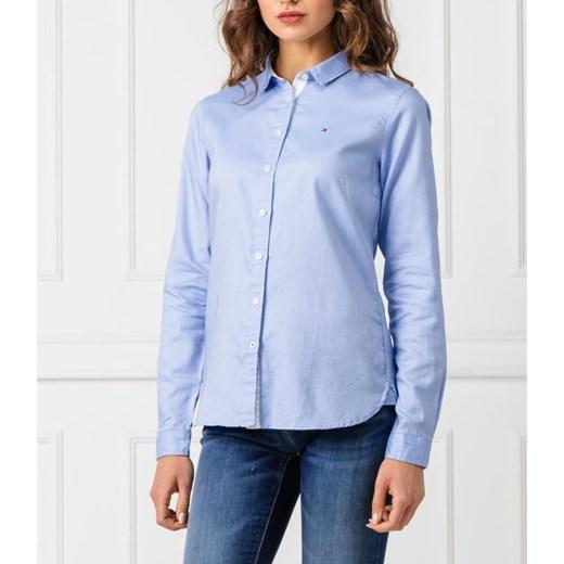 d4c29788ef99eb ... Koszula damska Tommy Hilfiger z długim rękawem niebieska z kołnierzykiem  ...