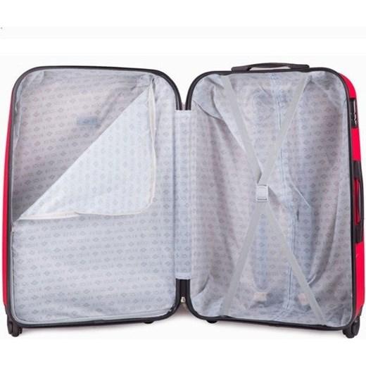 383404978df3d Mała walizka podróżna na kółkach (bagaż podręczny) SOLIER STL310 S ABS  czerwona Skorzana.com w Domodi