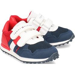 118fd1f722b81 Buty sportowe dziecięce Tommy Hilfiger na wiosnę na rzepy bez wzorów