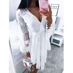 bd3b862993 Sukienka biała Magmac z długim rękawem