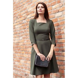 42dc420c32 Sukienka midi z długim rękawem
