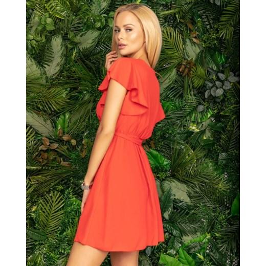 ab8ca0aee3 ... Sukienka oversize owa czerwona z poliestru ...