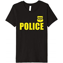 T-shirt chłopięce Cute Police Uniform Kid Tees