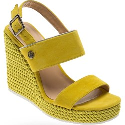 ef54437d Liu jo sandały damskie żółte eleganckie z klamrą