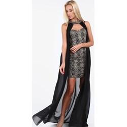 286af026de Sukienka Fasardi elegancka maxi prosta na wesele