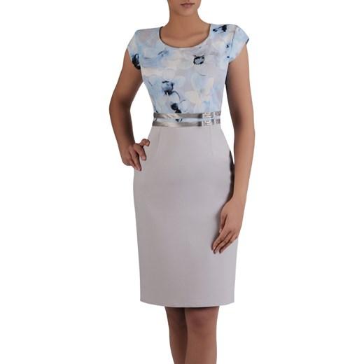 465c9ab2647aa3 Sukienka na wesele Resina IX, elegancka kreacja z tkaniny. Modbis w Domodi